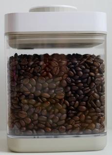 真空保存容器セビア2.4Lサイズでコーヒー豆を真空保存