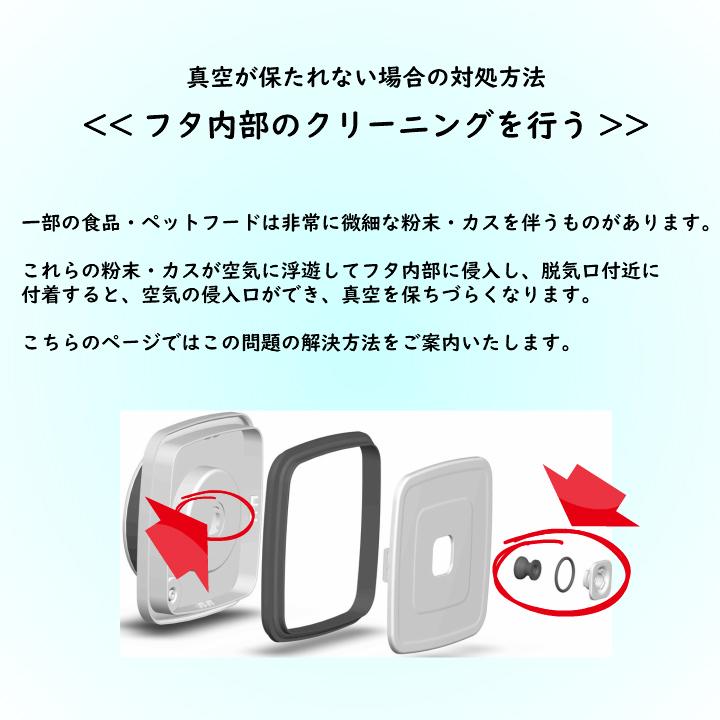 真空保存容器ターンシール(ターンエヌシール)Turn-N-Sealのフタ内部のクリーニング方法